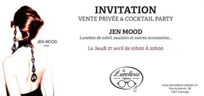 invitation jen mood lunetterie de carouge