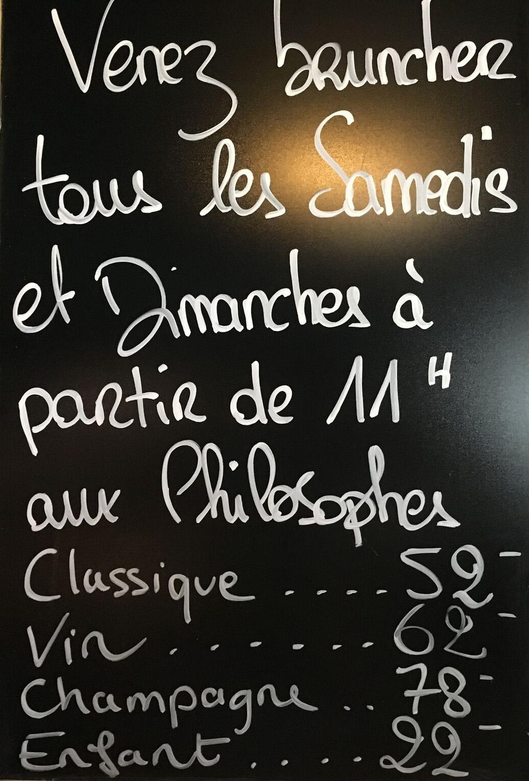 brunch des philosophe Genève bythelake