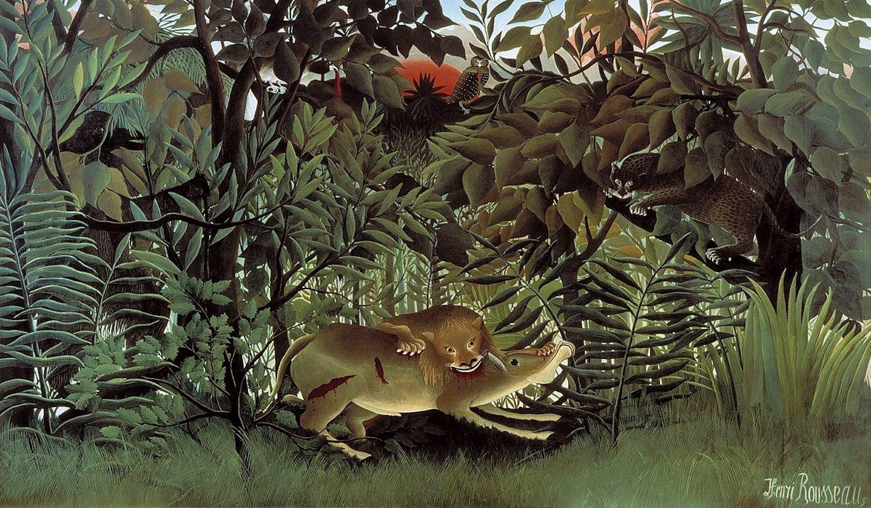 Le lion ayant faim, Douanier Rousseau, Fondation Beyeler , octobre 2020