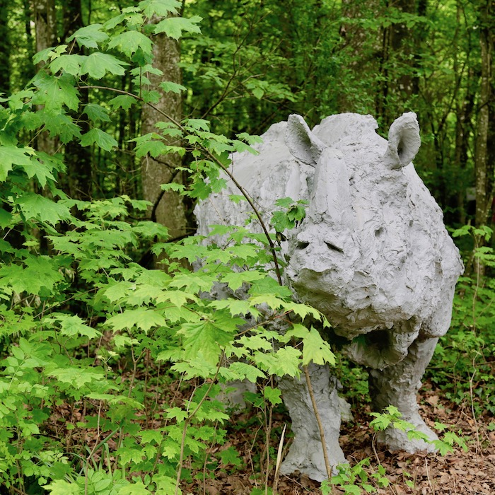 sculptures de Davide Rivalta, chateau de Vullierens, juin 2021