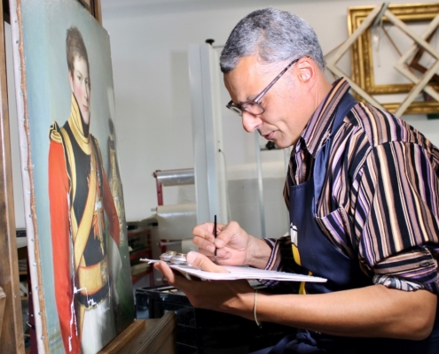 Philippe Kunz, restaurateur d'art, juin 2021